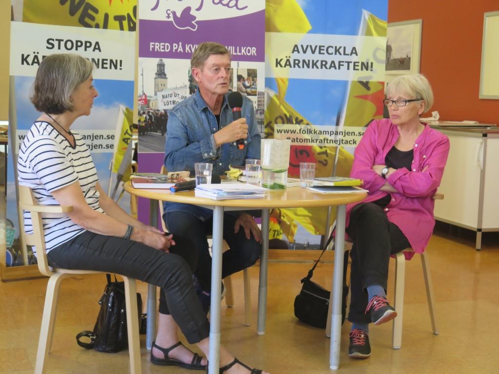 Åsa Moberg, Gösta Elmquist och Pirkko Lindberg Foto: Linus Bergström
